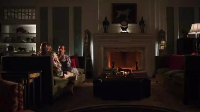 Gucci Printed silk-charmeuse wide-leg pants worn by Georgina Hobart (Gwyneth Paltrow) in The Politician Season 1 Episode 4